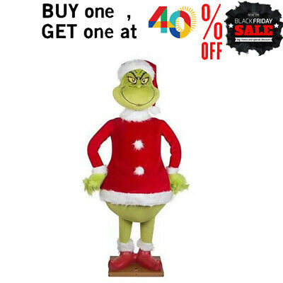 £13.88 • Buy UK! 60CM Grinch Plush Doll How The Grinch Stole Christmas Kids Stuffed Toys Gift