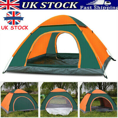 £27.99 • Buy Pop Up Tent Automatic 4-5 Man Person Family Tent Camping Festival Shelter Beach~