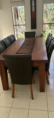 AU300 • Buy Solid Wooden Dining Table With 8 Chairs