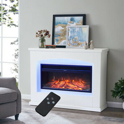 £304.95 • Buy Electric Fireplace Suite 34  Fire Surround Suit Set With 7 Colour LED Mood Light