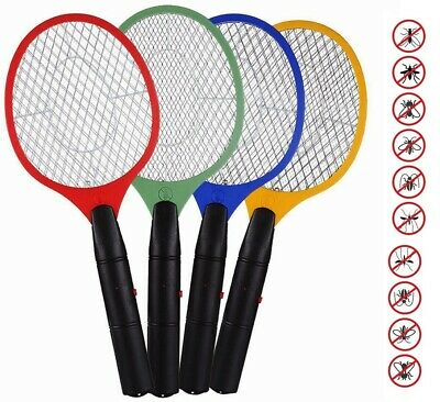 £5.80 • Buy Large Bug Zapper Electric Fly Swatter Indoor Fly Insect Killer Mosquito Racket