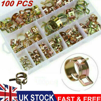 £10.59 • Buy 100Pcs Spring Hose Clips/Clamps Mikalor Fuel Air Gas Water Pipe Self Clamping