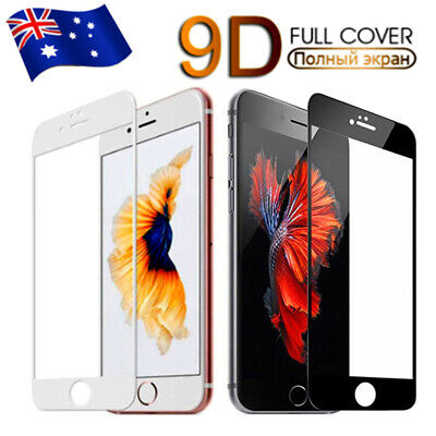 AU4.99 • Buy Tempered Glass 9D FULL COVER Screen Protector IPhone 11 Pro X Max XS XR SE 8 7