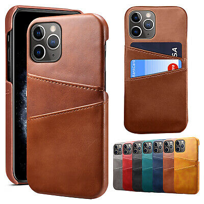 AU10.99 • Buy For IPhone 13 Pro Max 12 11 XS XR 7+ 8+ Slim Leather Wallet Card Slot Case Cover