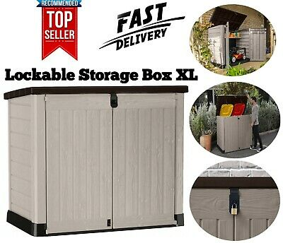 £184.90 • Buy Keter Store It Out MAX Garden Lockable Storage Box XL Shed Outside Bike Bin Tool