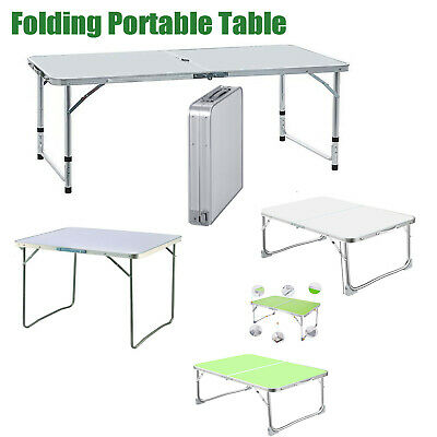 £38.68 • Buy New Folding Camping Table Aluminium Picnic Portable Adjustable Party Bbq Outdoor