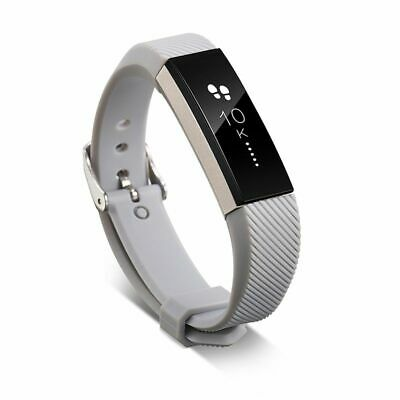 AU5.45 • Buy TPU Replacement Watch Wrist Band Strap Metal Buckle Clasp For Fitbit Alta Gray