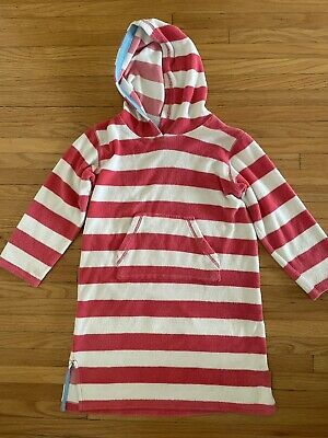 £7.23 • Buy Mini Boden Girls Striped Toweling Hoodie Terry Coverup Pool/Beach * Size 6-8