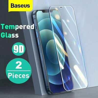 AU7.99 • Buy Baseus 2PCS Tempered Glass Screen Protector Full Cover For IPhone 12 11 Pro XS
