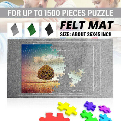 £5.99 • Buy Puzzle Roll Up Mat Jigsaw Storage Felt Mat Up To 3000 Pieces Fun Game Kids Gift