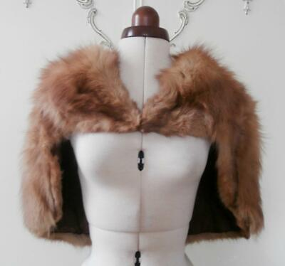 £49.99 • Buy Vintage 1940's (Approx) Naturally Shaded Fox Fur Evening Stole, Shrug, Capelet