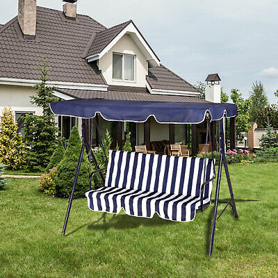 £59.90 • Buy 3 Seater Hammock Swing Chair With Stand Outdoor Hanging Chair Canopy PatioGarden