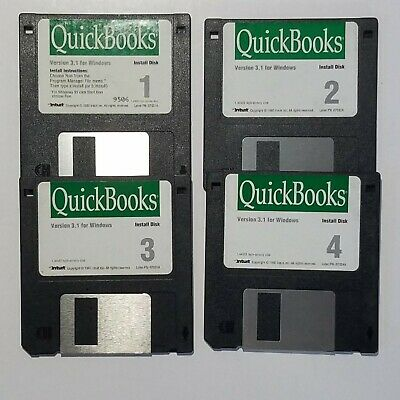 £18.12 • Buy Intuit QuickBooks Version 3.1 For Windows 4 - 3.5 Install Disks