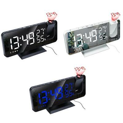 AU30.69 • Buy Digital Projector Alarm Clock With Temperature Humidity Time Projection FM Radio