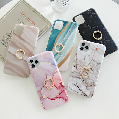 AU15.23 • Buy For IPhone 12 Mini 11 Pro Max 8 7 Plus Marble Case Ring Stand Holder Phone Cover