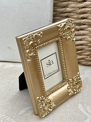 £8.99 • Buy Small Baroque Rococo Gold Picture Photo Frame New Boxed Old Stock Gift Sia