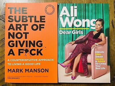 AU25 • Buy 2 Book Pack- The Subtle Art Of Not Giving A F*ck And Dear Girls. As New.