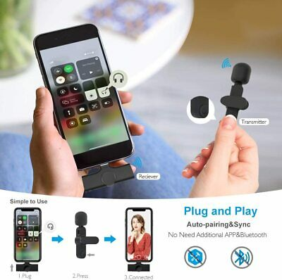 AU49.99 • Buy Lavalier Wireless Microphone For Lightning IPhone IPad Vlog Live Video Recording