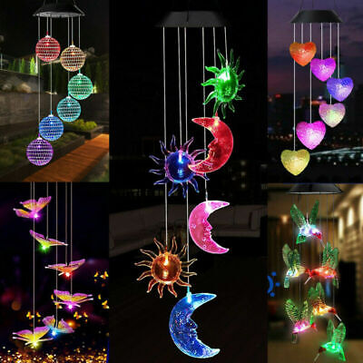 £9.99 • Buy Colour Changing Hanging Wind Chimes LED Light Garden Outdoor Decor Solar Powered