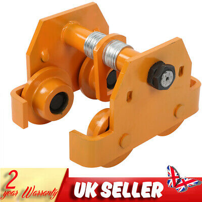 £78.70 • Buy 2ton 4400 Lbs Push Beam Trolley Roller For Elevated Garage Hoist Beam Track Part