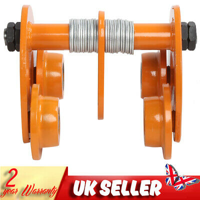 £56.70 • Buy 1T Push Beam Trolley Roller For Overhead Garage Hoist I‑Beam Track Parts 2200lbs