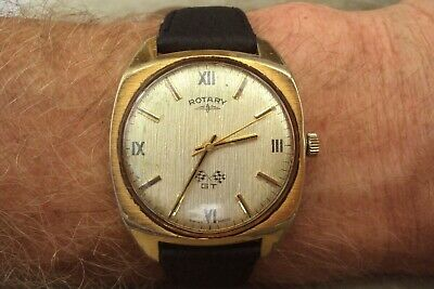 £24.95 • Buy Vintage Windup Movement Rotary Gt Gents Watch Working Well.