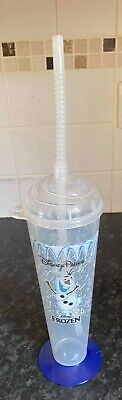 £1.99 • Buy Disney Parks Exclusive Frozen Olaf TALL PLASTIC CUP WITH LID AND STRAW
