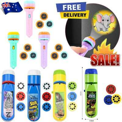 AU8.43 • Buy Slide Projector Torch For Kids Educational Learning Bedtime Fun Toy Gift AUS