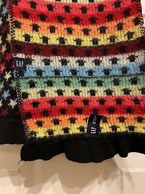 """£9 • Buy GAP LONG SCARF LAMBSWOOL RABBIT HAIR MULTICOLOURED SCARF Approx 76x6"""""""