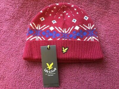 £12.99 • Buy LYLE & SCOTT KNITTED CHRISTMAS  BEANIE / HAT - ONE SIZE - BNWT's