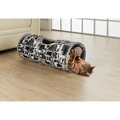 £14.95 • Buy Grey Cat Tunnel Toy Suede Fabric Crackle Collapsible Cat Kitten Pet Activity Bed