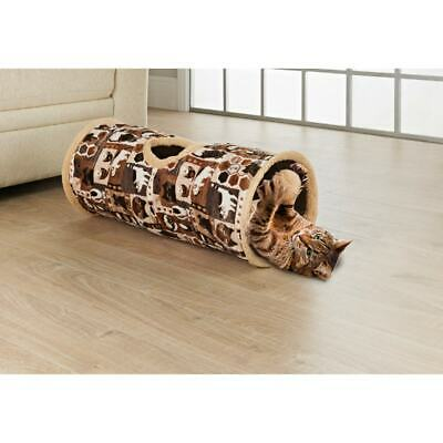 £14.95 • Buy Cat Tunnel Toy Brown Suede Fabric Crackle Collapsible Cat Pet Activity Bed