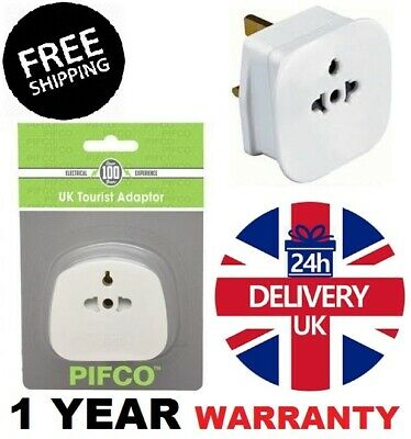 £2.29 • Buy INT, EU, US To UK 3 Pin Tourist Travel Power Plug Holiday Adaptor With 13A Fused
