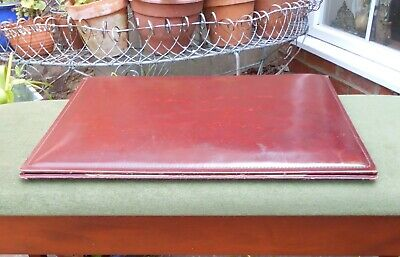 £60 • Buy French Le Tanneur Executive Desk Blotter & Stationery Holder~oxblood Leather
