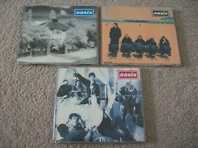 £7.99 • Buy 3 X Oasis Cd Single's, Cigarettes & Alcohol/ Live Forever / Roll With It 1994/95