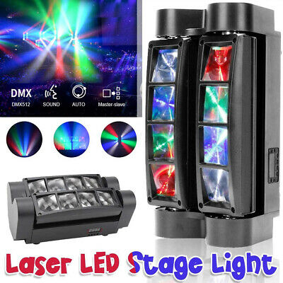 £62.99 • Buy 80W RGBW LED Spider Beam Moving Head Stage Lighting Bar Disco DJ Party Lights
