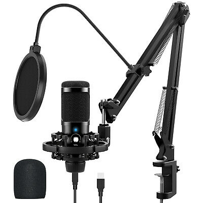 £19.99 • Buy Microphone Boom Arm Stand Desk Mount With Pop Filter For Blue Yeti Snowball UK