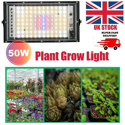 £11.99 • Buy 50W LED Plant Grow Light For Indoor Plants Veg Flower Growth Greenhouse Lamps UK