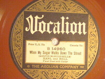 £7.62 • Buy 78 : Vocalion 14960-earl & Bell-when My Sugar Walks Down/see You In My Dreams-e+
