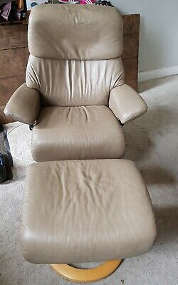 £440 • Buy Erkones Stressless Reclining Chair And Stool