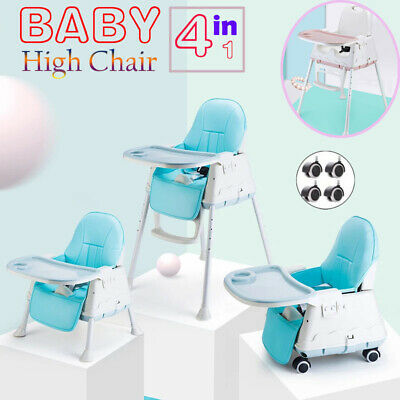 £32.95 • Buy Adjustable 4-In-1 Baby Highchair Infant Feeding Seat Toddler Table Chair + Tray