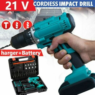 £35.99 • Buy 21V Cordless Impact Wrench Brushless Drill Driver Torque Replace Charger+Battery