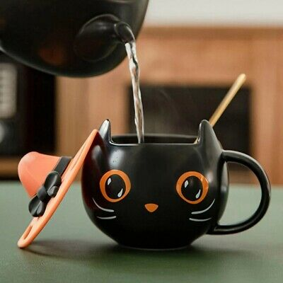 £18.99 • Buy 2021 Starbucks Black Cat Cup Water Mug Halloween Gift With Witch Cap Lid & Spoon