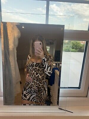 £7.50 • Buy Lipsy, Uk Size 6, Leopard Print, Long Sleeve Dress, Excellent Condition