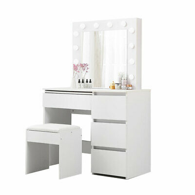 AU247.96 • Buy Levede Dressing Table Tool Set LED Makeup Mirror Jewellery Organizer Cabinet ...