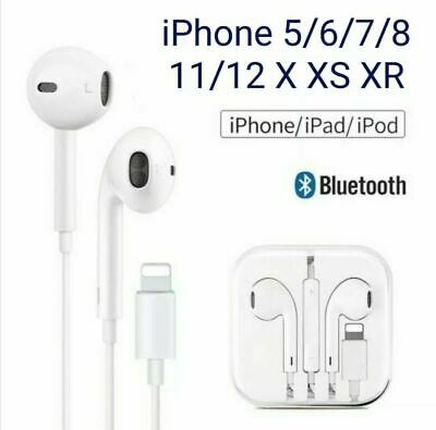 AU9.99 • Buy For Apple IPhone XR Xs X 7 8 11 12 13 Wired Bluetooth 8pin Earphones Headphones