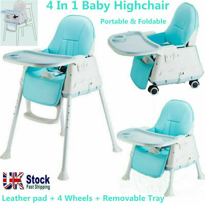 £25.89 • Buy Adjustable Baby High Chair With Tray, 4 In 1 Infant Feeding Seat Table Highchair