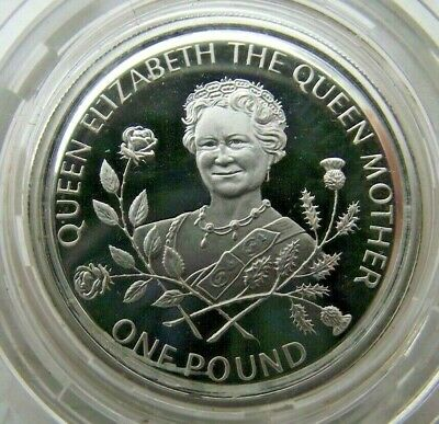 £2.20 • Buy 1995 £1 One Pound Coin Sterling Silver Proof Guernsey Queen Mother In Capsule