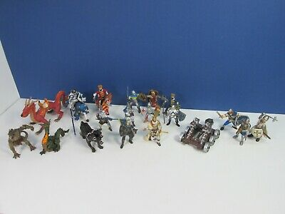 £53.53 • Buy 19 Large PAPO KNIGHTS HORSE King DRAGON Fantasy FIGURE LOT SET 3 Are SCHLEICH
