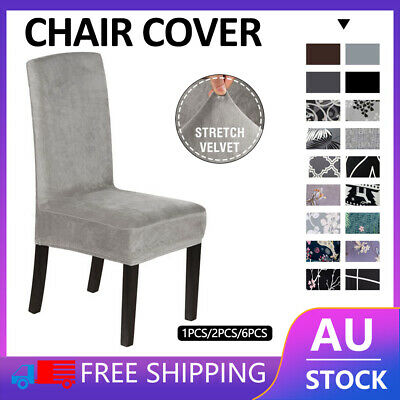 AU5.36 • Buy 1/4/6/8Pcs Stretch Dining Chair Covers Slipcover Spandex Wedding Cover Removable